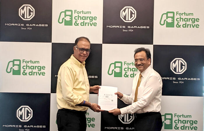 MG Motors and Fortum C&D signing